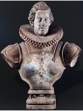 Busto di Cosimo II dei Medici in terracotta
