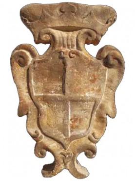 Stemma in Pietra calcare bianca quadripartito