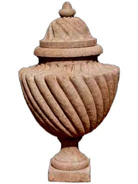 Stone twisted vase