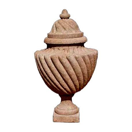 Vaso a tortiglione in pietra serena
