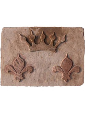 Sand stone coat of arms lilies and noble crown