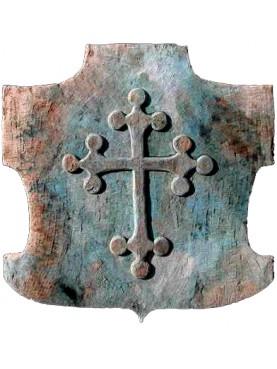 Croce Pisana lobata in pietra arenaria