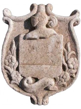 Coat of arms with helmet in profile nobleman