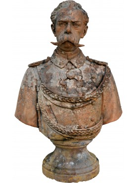 Umberto I di Savoia king of Italy - Terracotta bust