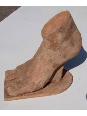 Foot in terracotta