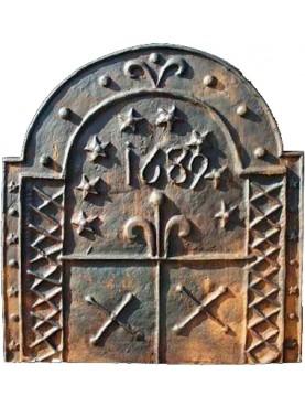 Lastra in ghisa per camino datata 1689