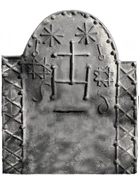 IHS fireback with two crosses of King Solomon