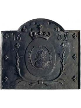 Lastra in ghisa per camino re di Francia 1605