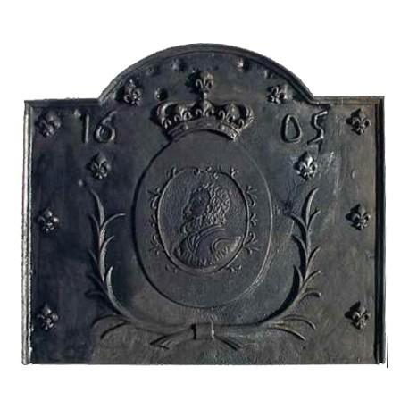 Fireback castiron king of france 1605