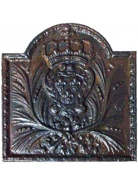 Cast iron fireback - insignia king of france