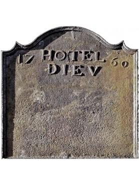 castiron Fireback Hotel Diev 1760