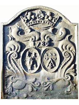 Lastra in ghisa per camino datata 1789