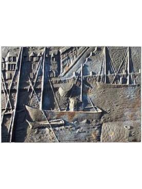 Lastra in ghisa per camino porto di Saint Malo (Bretagna)