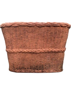 Great terracotta box from Impruneta - wicker design