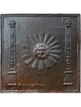 Copy of eighteenth century Fireback with Sun