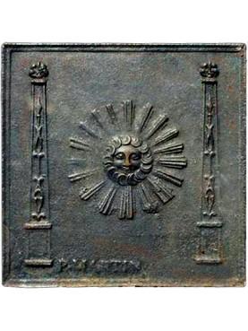 Lastra in ghisa per camino sole di epoca Impero