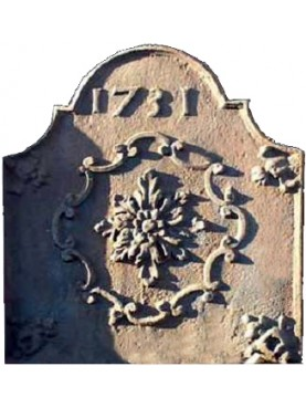 Lastra in ghisa per camino rosetta - datata 1731
