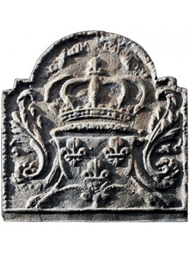 french cast-iron Fireback - arms of France