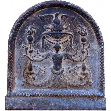 Antique original eagle fireback slab