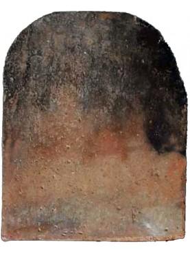 antica Lastra semplice in terracotta per camino