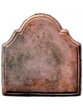 Terracotta fireback L 44 cm