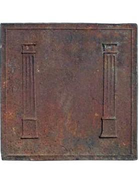 Antica originale Lastra in ghisa per camino di epoca Impero
