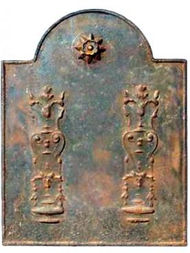 Lastra in ghisa per camino antica originale epoca impero