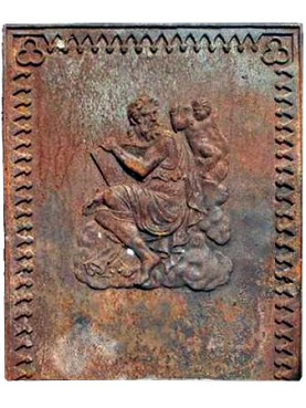 ancient zeus cast iron fireback