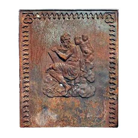 Lastra in ghisa per camino antica Zeus