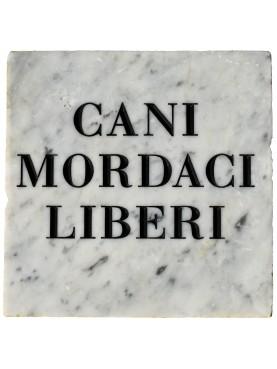 Gabriele D'Annunzio - Cani mordaci liberi - Targa in marmo