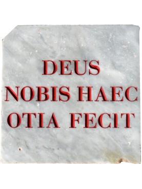 Virgilio - DEUS NOBIS HAEC OTIA FECIT - targa in marmo