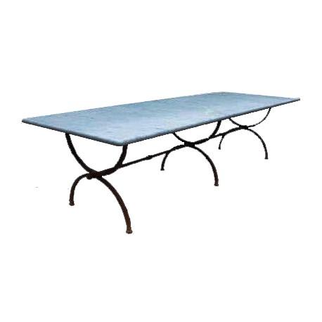 Tavolo a centine 300 CM in marmo bianco di carrara