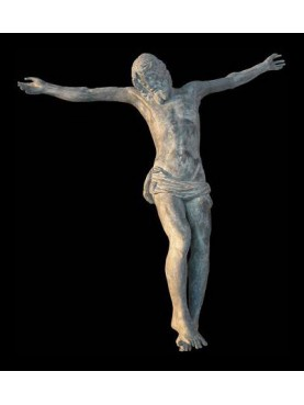 Cristo in terracotta patinata