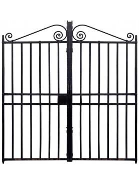 Cancello pedonale antico in ferro battuto a due ante