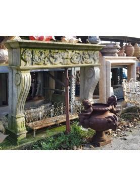 Fireplace renaissance style limestone