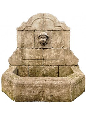 Stone fountain in 16 pieces