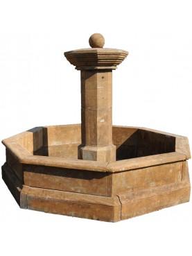 Fontana circolare in pietra calcarea