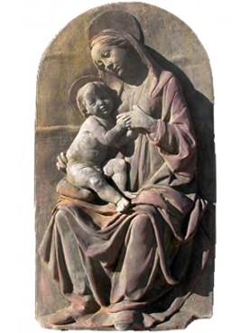 La Madonna del latte Della Robbia - terracotta