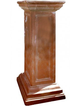 Terracotta square base H.105cms 37x37cms - column