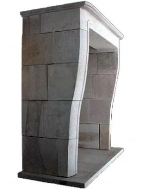 Kisterman french fireplace - white limestone
