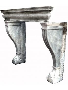 Repro Renaissance fireplace limestone
