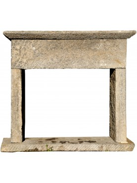Ancient stone fireplace