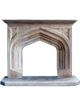 Typical English fireplace - limestone