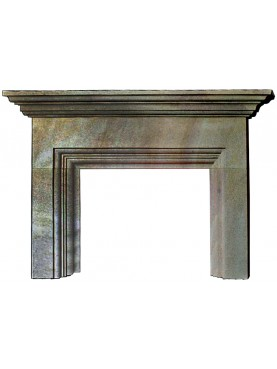 English Fireplace in grey sandstone