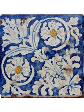 Piastrella di maiolica antica - Tommaso Bruno
