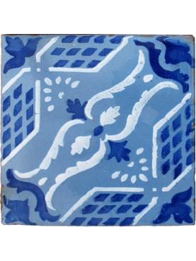 Majolica tile cobalt blue