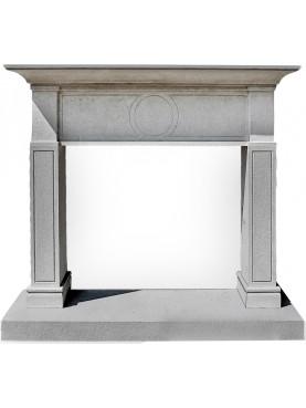 Burgisser Fireplace white limestone