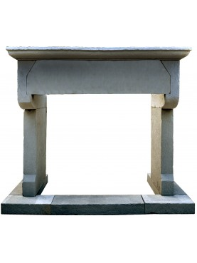 Stone fireplace brackets
