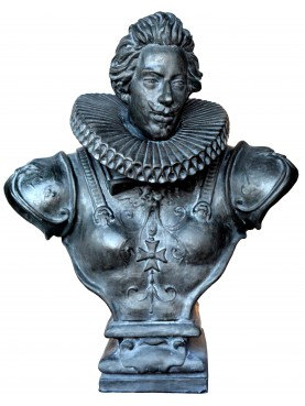 Bust of Cosimo II de Medici in bronze patinated terracotta