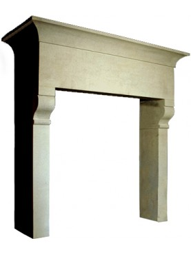 Large fireplace sandstone